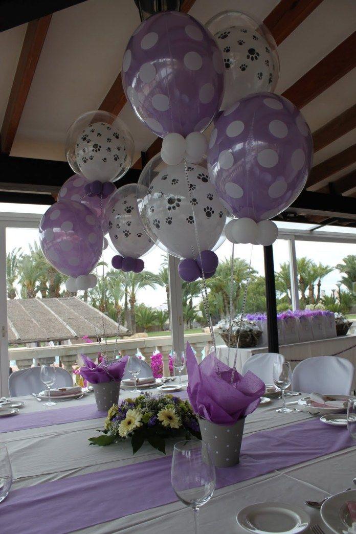 Centro de mesa con globos15 decor tu fiesta pinterest - Decorar una mesa de centro ...