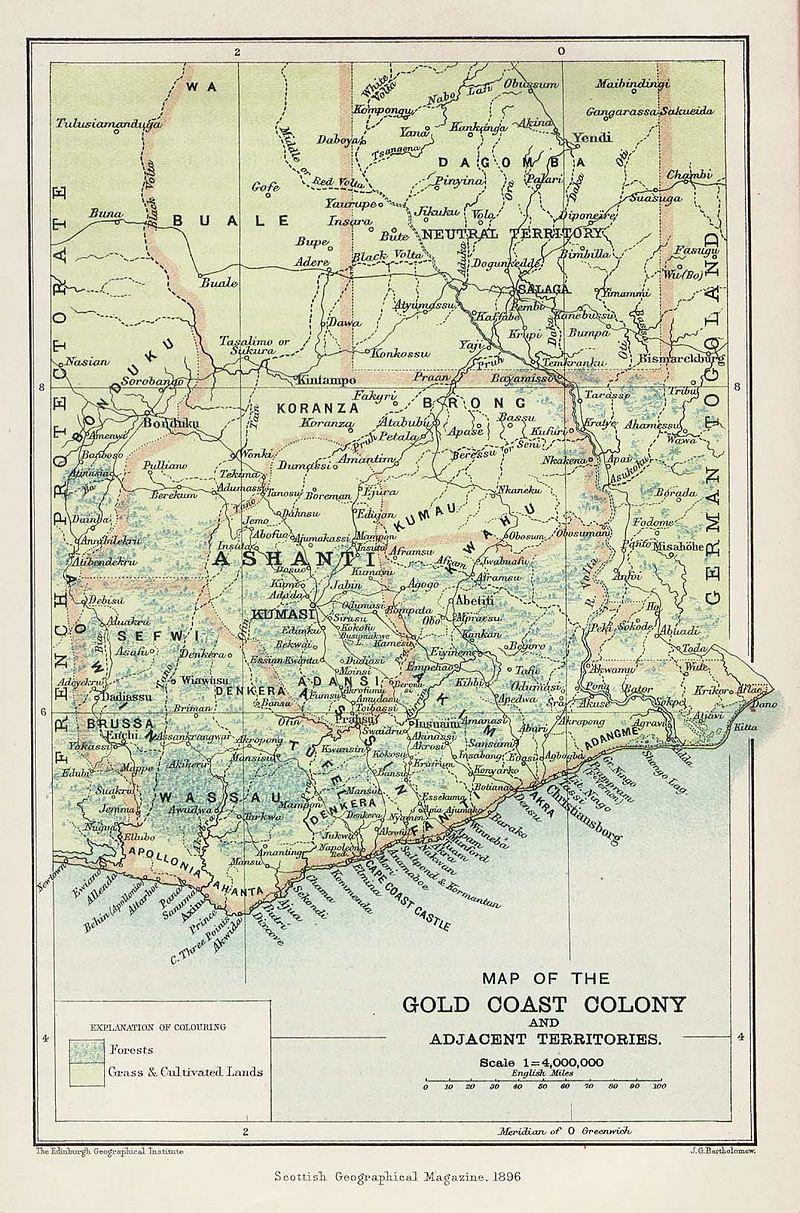 Gold Coast Map 1896 Gold Coast British Colony Wikipedia