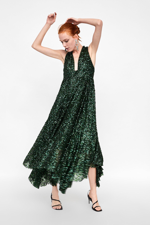 821dd7c4b6c3 Woman Af Med Edition Fra Zara Billede Kjole Limited 1 Pailletter 5XBSz