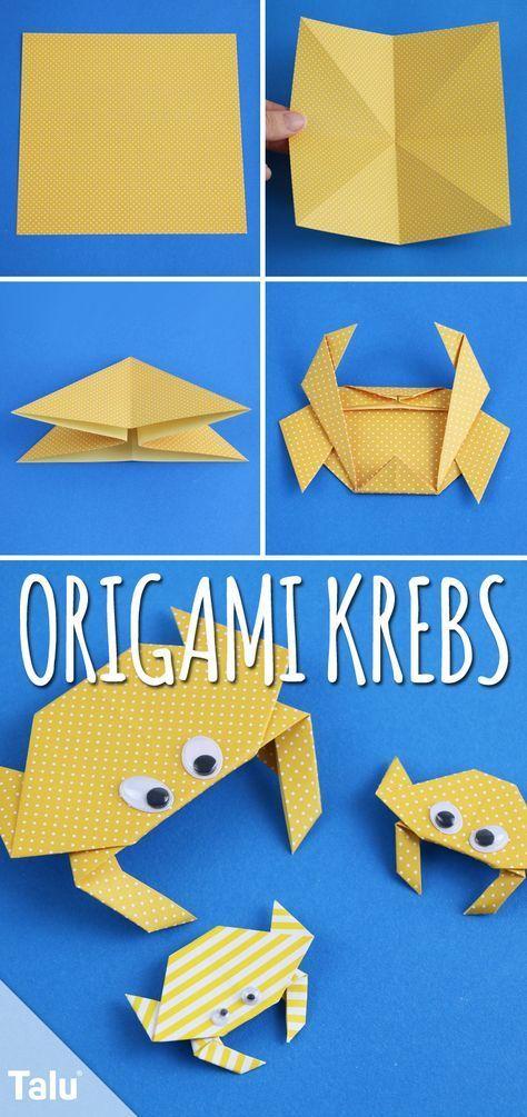 Origami Krebs falten – Anleitung mit Bildern #origamianleitungen