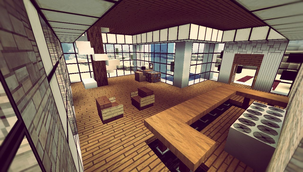 Minecraft house interior 08 minecraft pinterest minecraft modern minecraft ideas and - Minecraft home decor photos ...