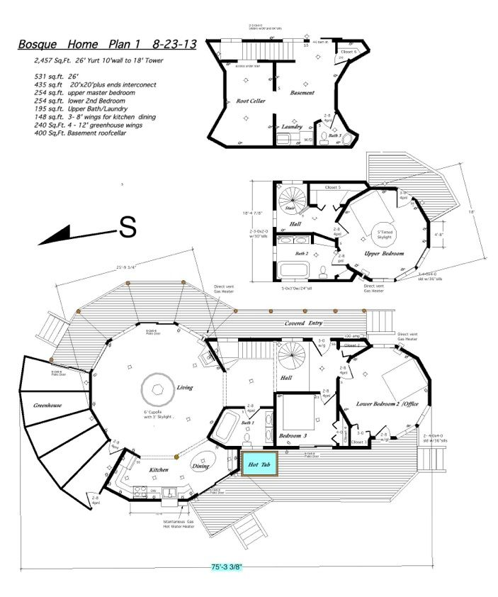California Yurts; Bosque Home Plan 1