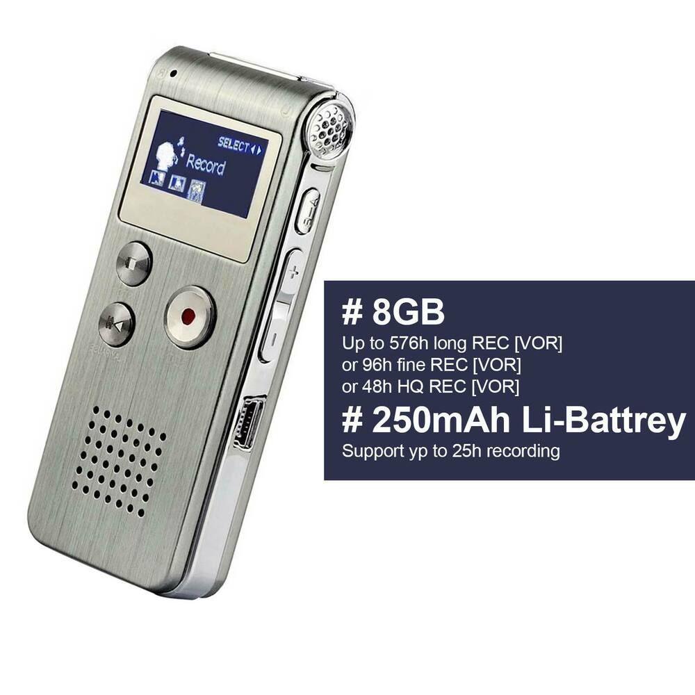 Voice Active Mini Spy Digital Sound Audio Recorder Dictaphone 8gb