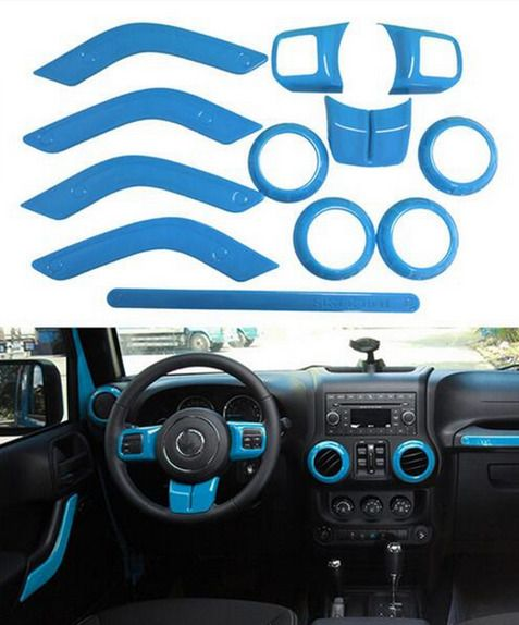 Jeep Blue Interior Trim