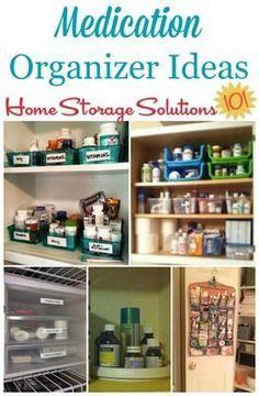 Medication Organizer Ideas & Storage Solutions in 2019 | med