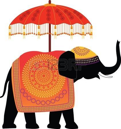 elephant stock vector illustration and royalty free elephant clipart rh pinterest com Indian Elephant Sketch Circus Elephant Clip Art