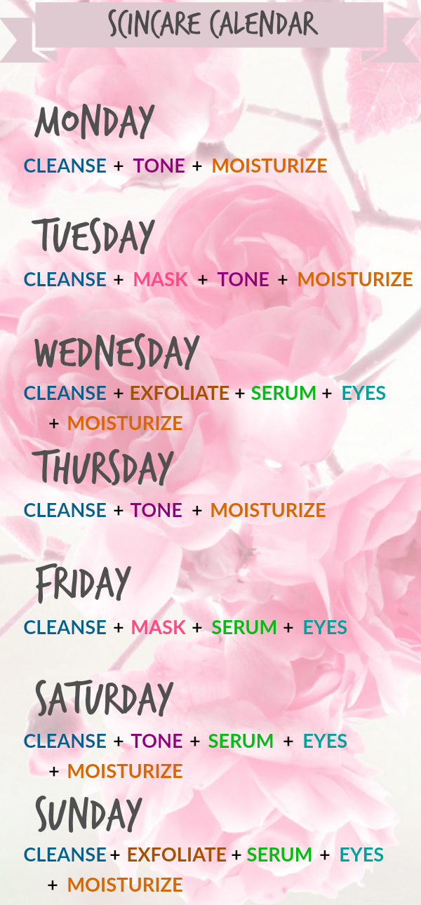 Skin Care Tips For Each Day Of The Week Skin Care Routine Skin Care Routine For All Skin Types Bio Skin Care Skin Care Advices Healthy Skin Care