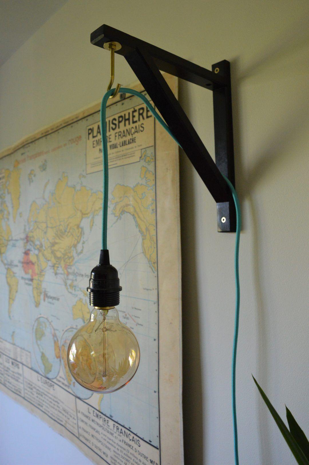 Ikea Ekby Valter Hack Shelf Bracket To Pendant Light Hook Ikeahack Diy Hanging Light Ikea Pendant Light Ikea Hanging Light