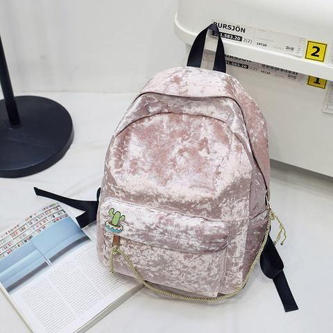 2018 New Hot Women Winter Velvet Backpack for Teenage Girls College Stylish  Rucksack Simple Style New Designed Backpacks 5663ecb7265b1