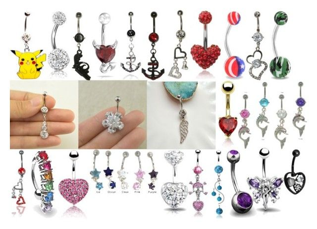 WildKlass Jewelry Rainbow Heart Sparkle 316L Surgical Steel Belly Button Ring