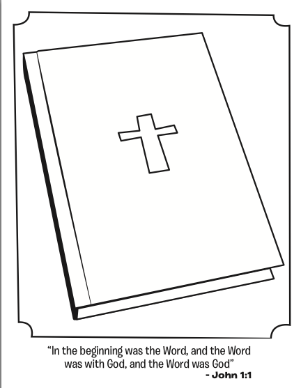 Whats in the Bible Bible kids coloring page featuring John 11