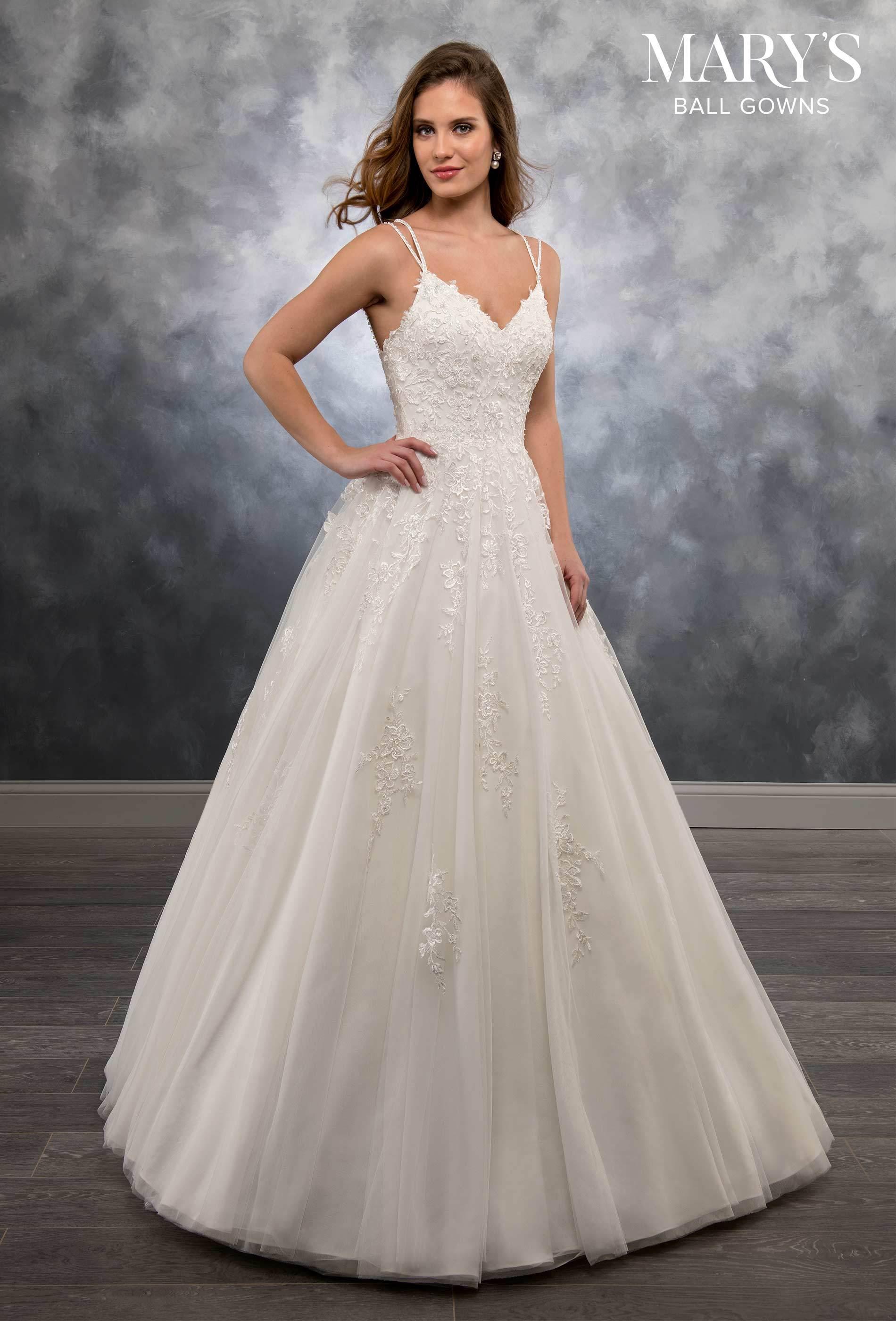 Strappy Back V Neck Wedding Dress By Mary S Bridal Mb6021 Lacy Wedding Dresses Princess Bridal Gown A Line Wedding Dress