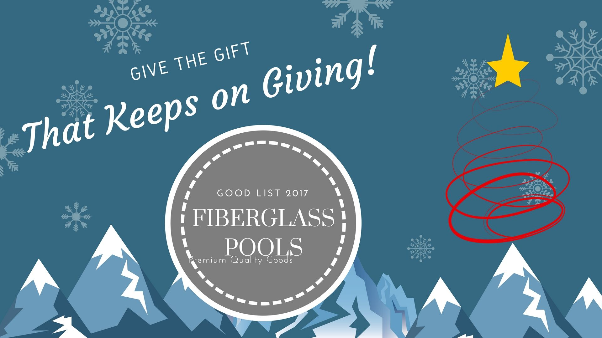 Give the t that keeps on giving a custom fiberglass pool for the