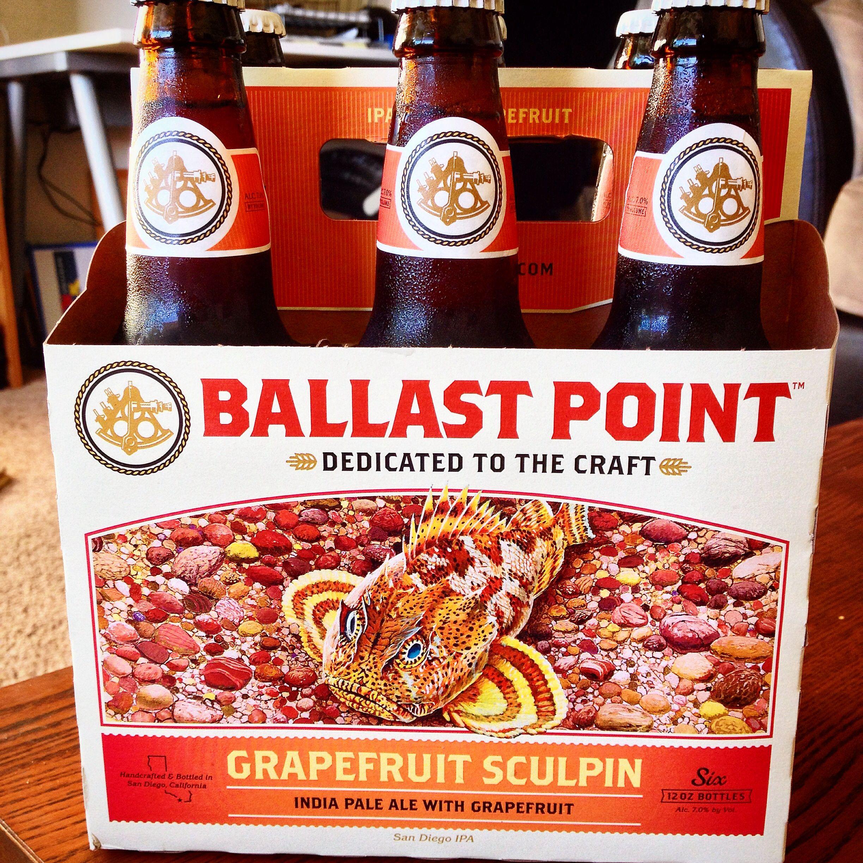 Grapefruit Sculpin Ipa Ballast Point Brewing Company San Diego Ca Craftbeer Design Craft Beer Labels Beer Bottle Labels Design Craft Beer