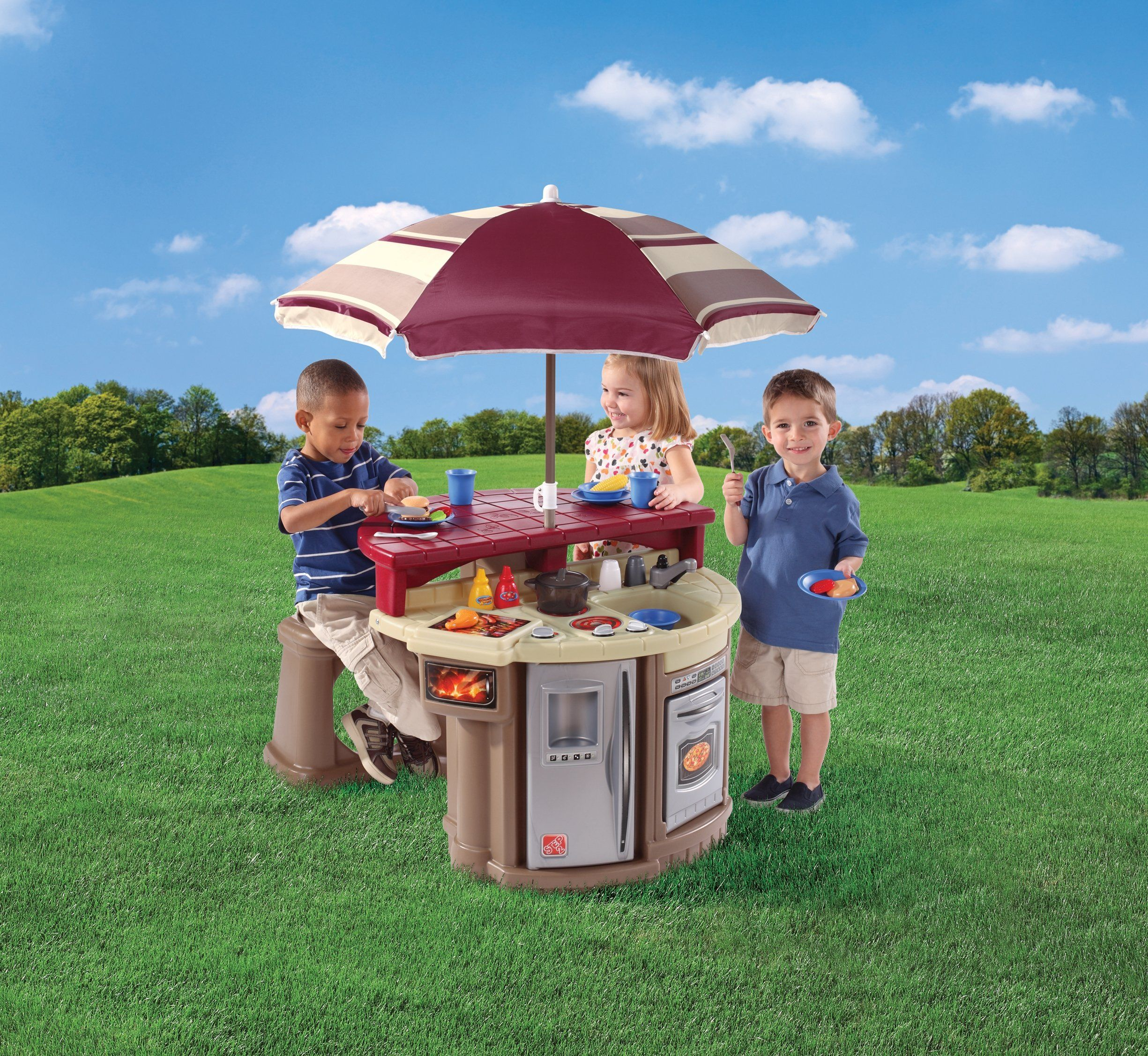Amazon Step2 Grill and Play Patio Cafe Toys & Games