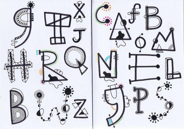 Sketchbook Letters by StudioGaro, via Flickr