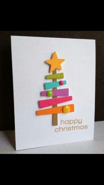 Postal navidad manualidades infantiles faciles - Como realizar tarjetas navidenas ...