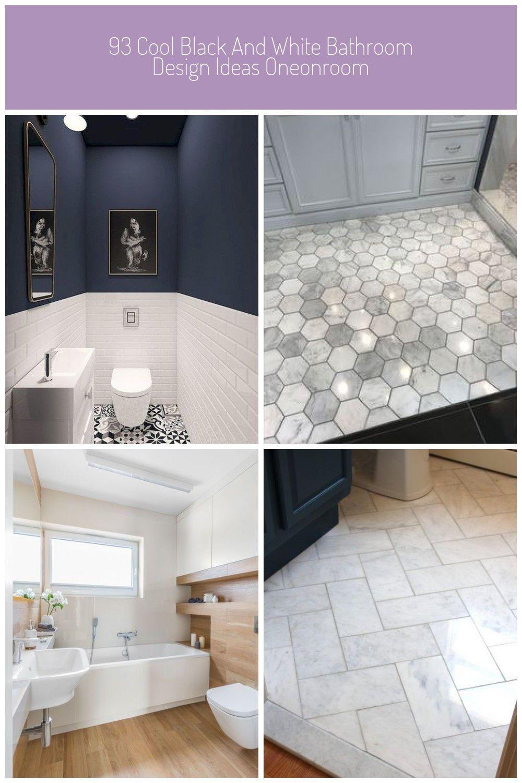 93 Cool Black And White Bathroom Design Ideas Oneonroom Bathroom Black Cool Design Ideas Oneonroom White Bathroom Flooring 93 Cool Black And White Bathro
