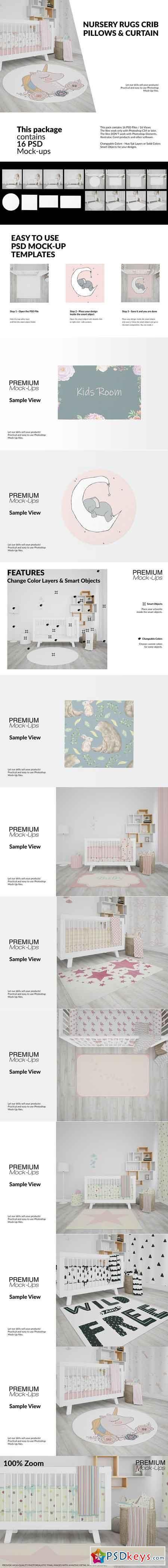 Nursery - 4 Rugs Pillows Curtain 2952080   PSDkeys   Rugs, Curtains