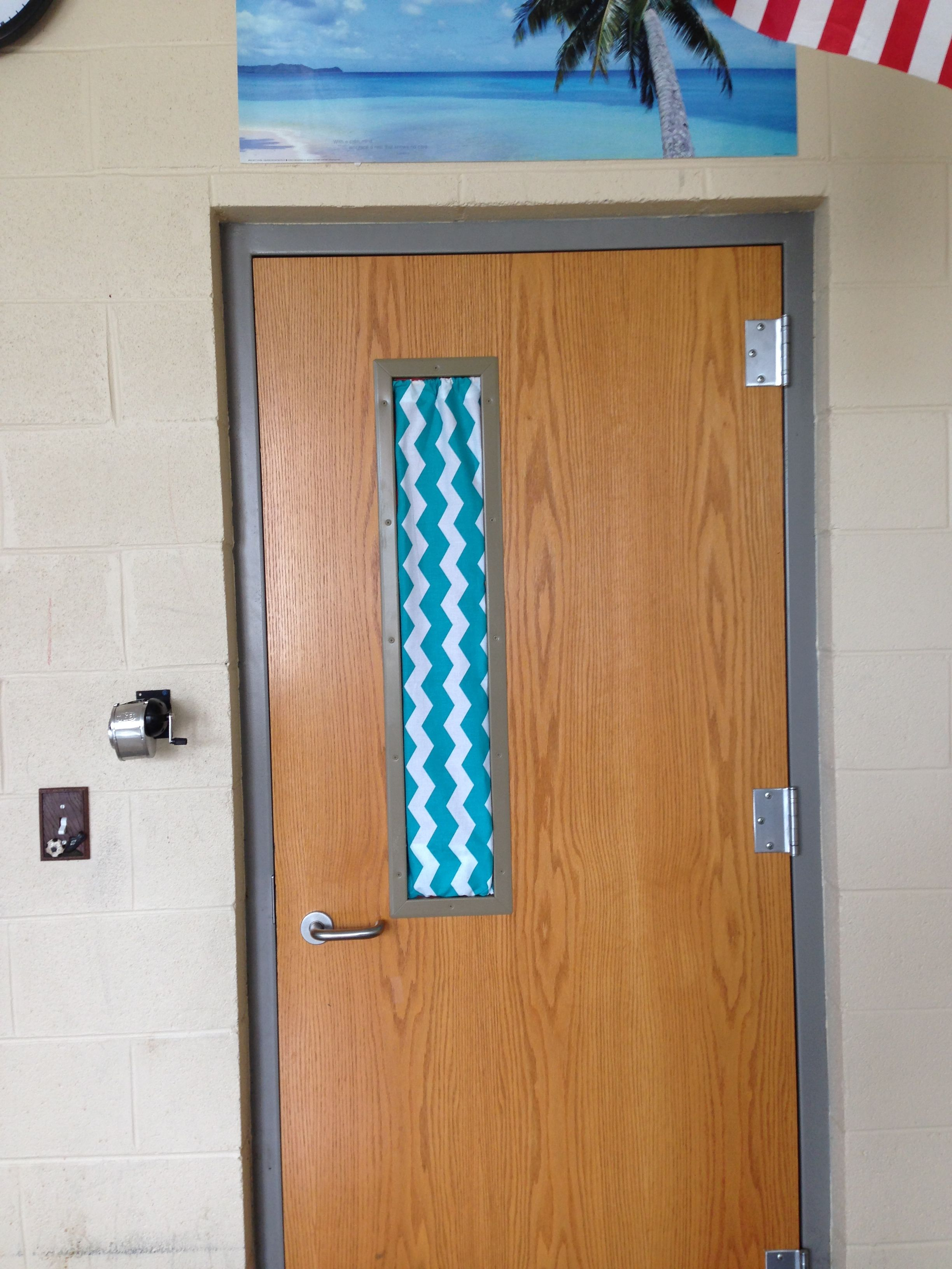 Classroom door window cover!!! I actually used pencils as