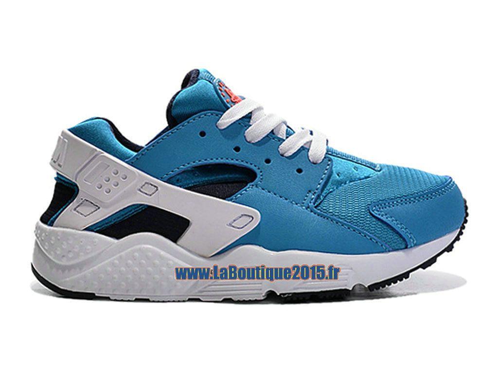 03587448223 Nike Huarache Run (PS) - Chaussure Nike Sportswear Pas Cher Pour Petit Enfant  Bleu photo Noir Orange total Blanc 704951-401