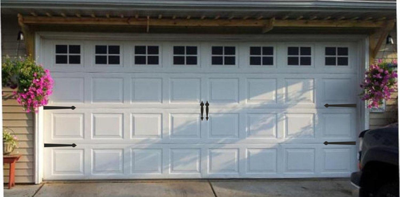Garage Door Hinges And Handles Vinyl Decals Garage Vinyl Etsy Garage Door Styles Garage Windows Faux Garage Door Windows