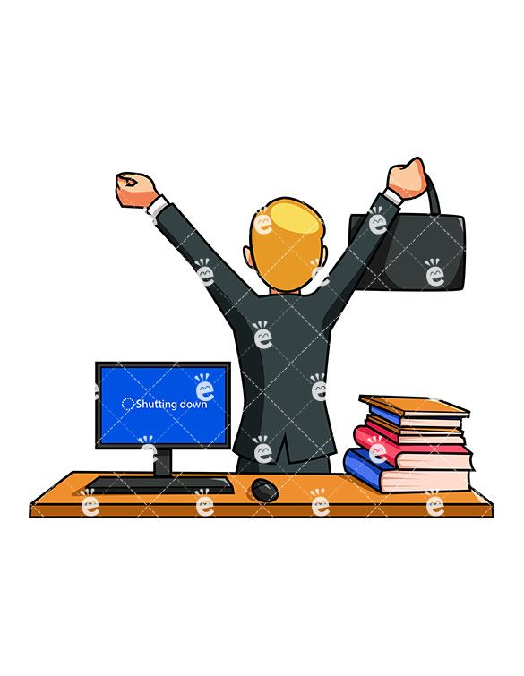 Office Cartoon - Work In Office Cartoon - Free Transparent PNG Clipart  Images Download