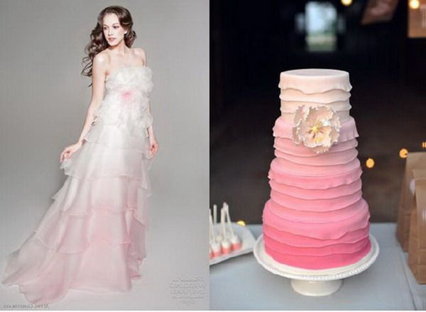 Pink Ombre Wedding Dress - unjourmonbebeviendra.com