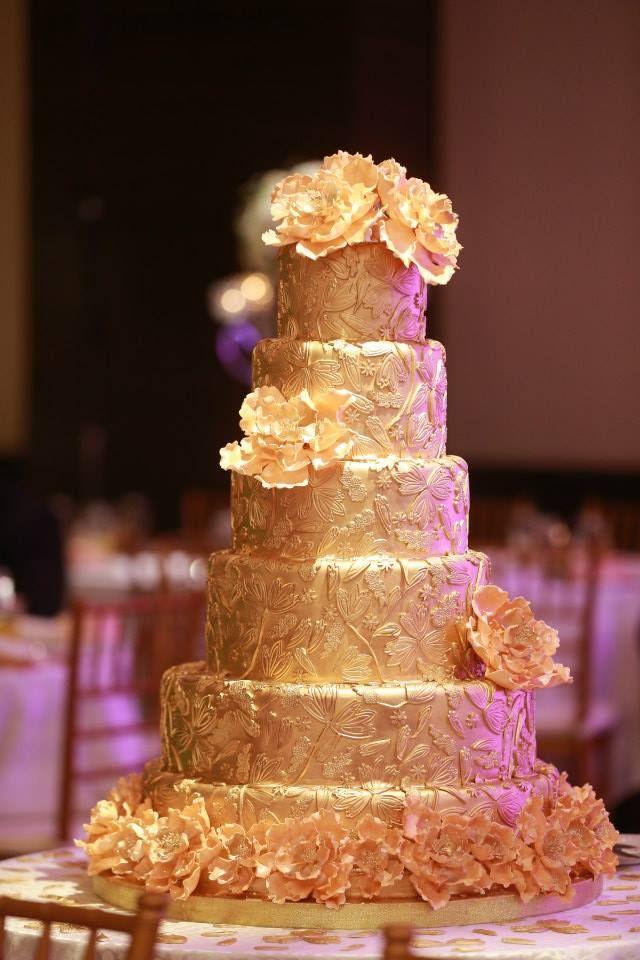 Sri Lankan Wedding Large Gold Cake My Sri Lankan Wedding