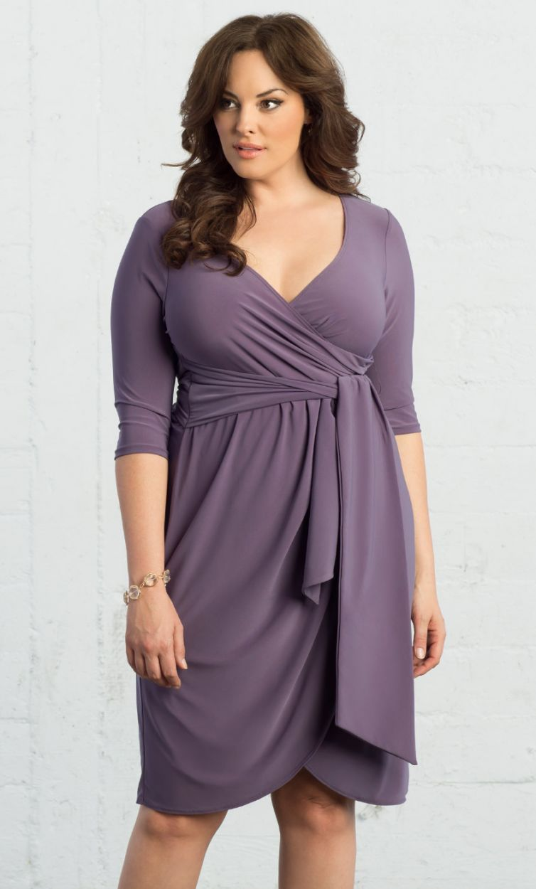 3e5dba59f391 Kiyonna Harlow Faux Wrap Dress. Plus Size Cocktail Dresses, Plus Size Maxi  Dresses,