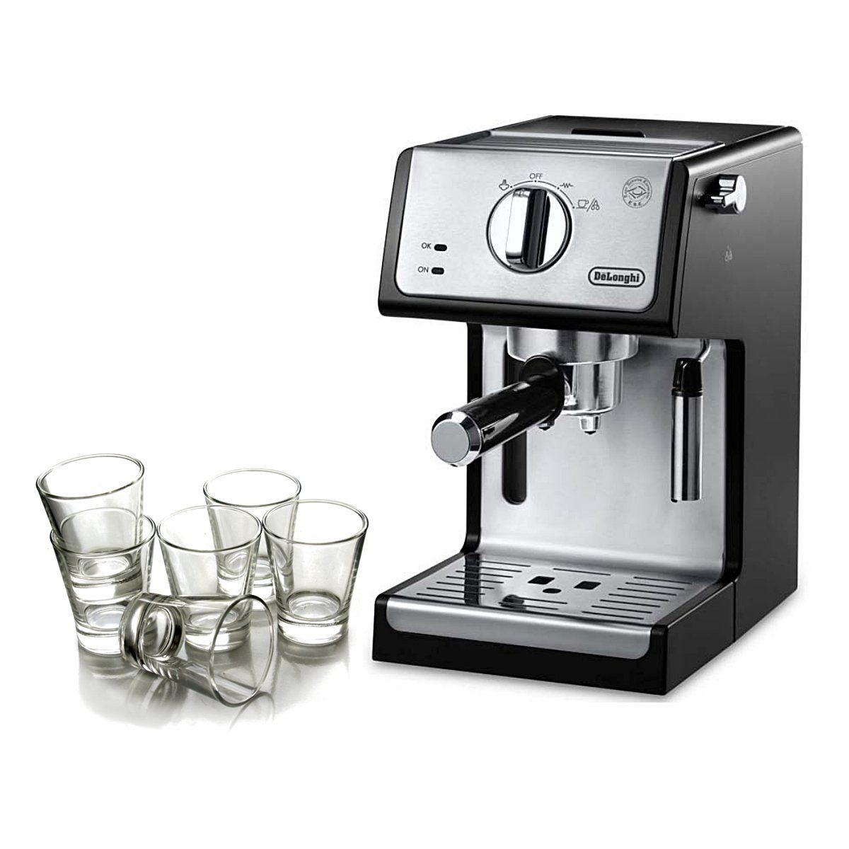 Espresso Cappuccino Machine DeLonghi 15 Bar Pump Black