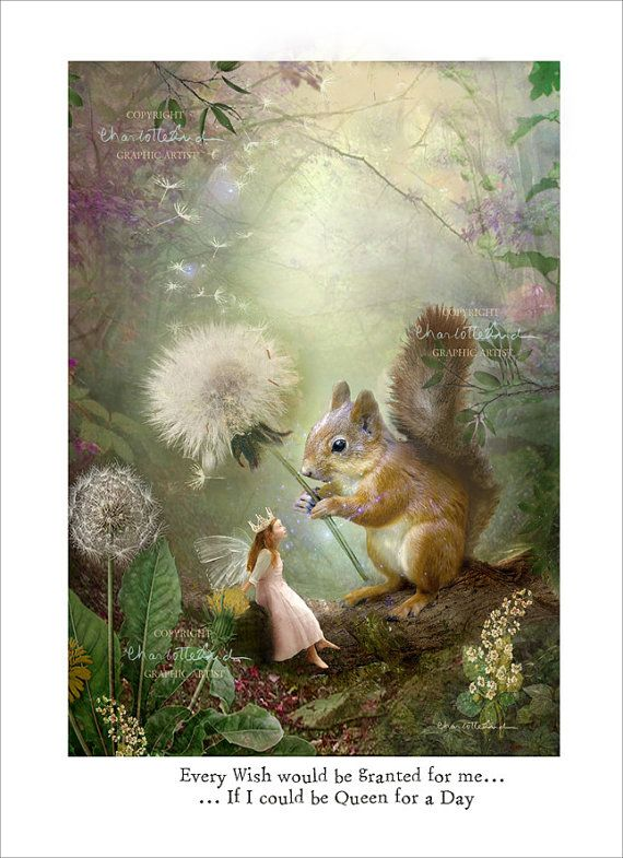 Set of x 5 A5 Prints - Butterfly Kisses,Queen for a day,The lost Key,Fairy of Gentleness