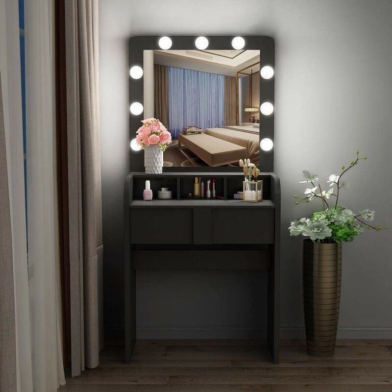 Surprising Latitude Run Peristerona Vanity With Mirror Wayfair In Gmtry Best Dining Table And Chair Ideas Images Gmtryco