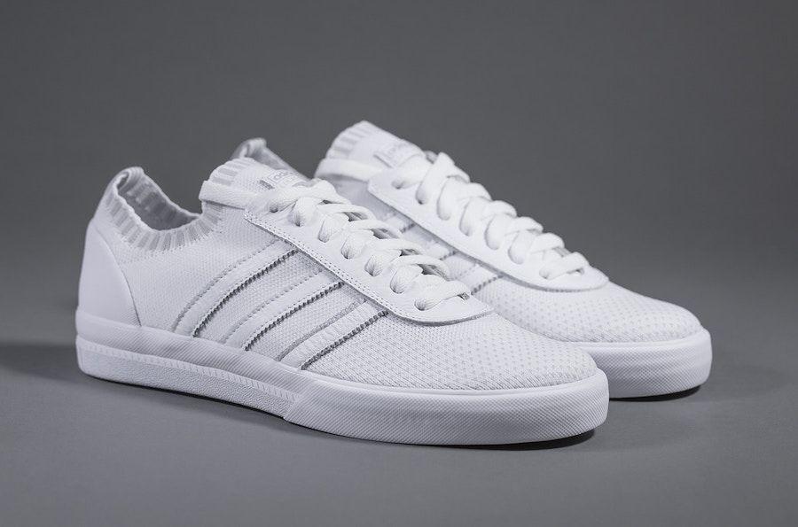 7e387ef03f7 adidas Lucas Premiere Primeknit Triple White - Sneaker Bar Detroit Sneaker  Bianche