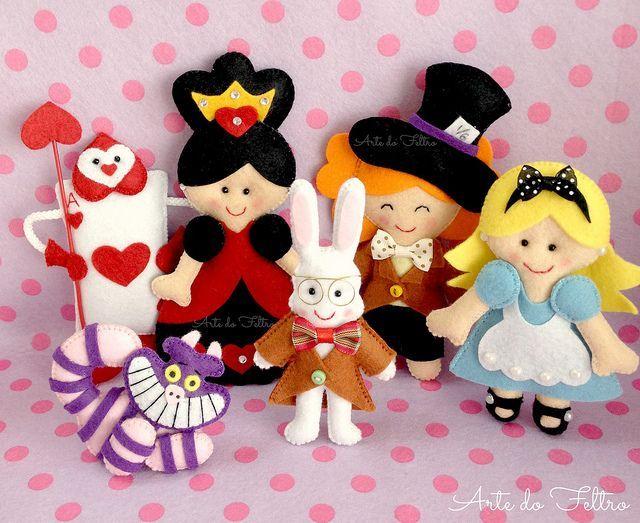 Turminha Da Alice No Pais Das Maravilhas Felt Dolls Ideias