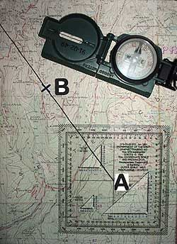 Military Map And Compass And Protractor Compass