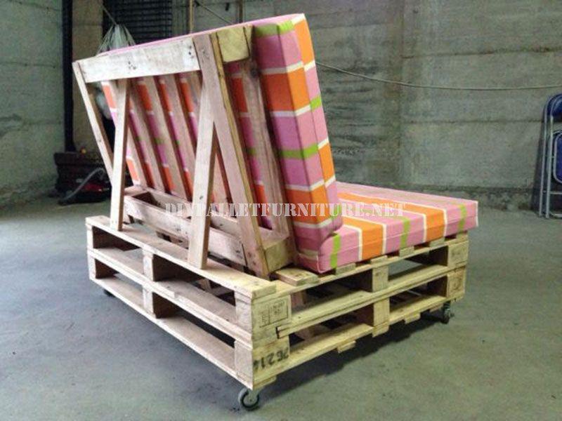 Mobili Pallet ~ Canapé mobile avec des palettes pallets pallet projects and salons