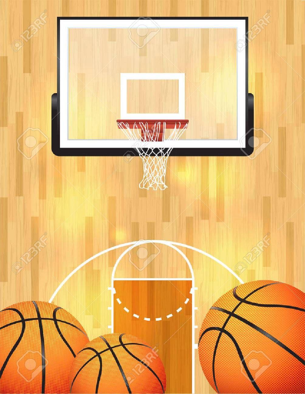 An Illustration Of A Basketball Court Balls And Hoop Sponsored Basketball Illustration Cou Basketball Background Basketball Posters Poster Template