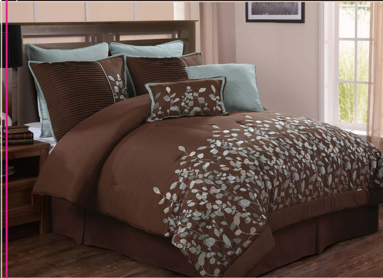 Amazon Com Luxury Home 8 Piece Leaves Comforter Set
