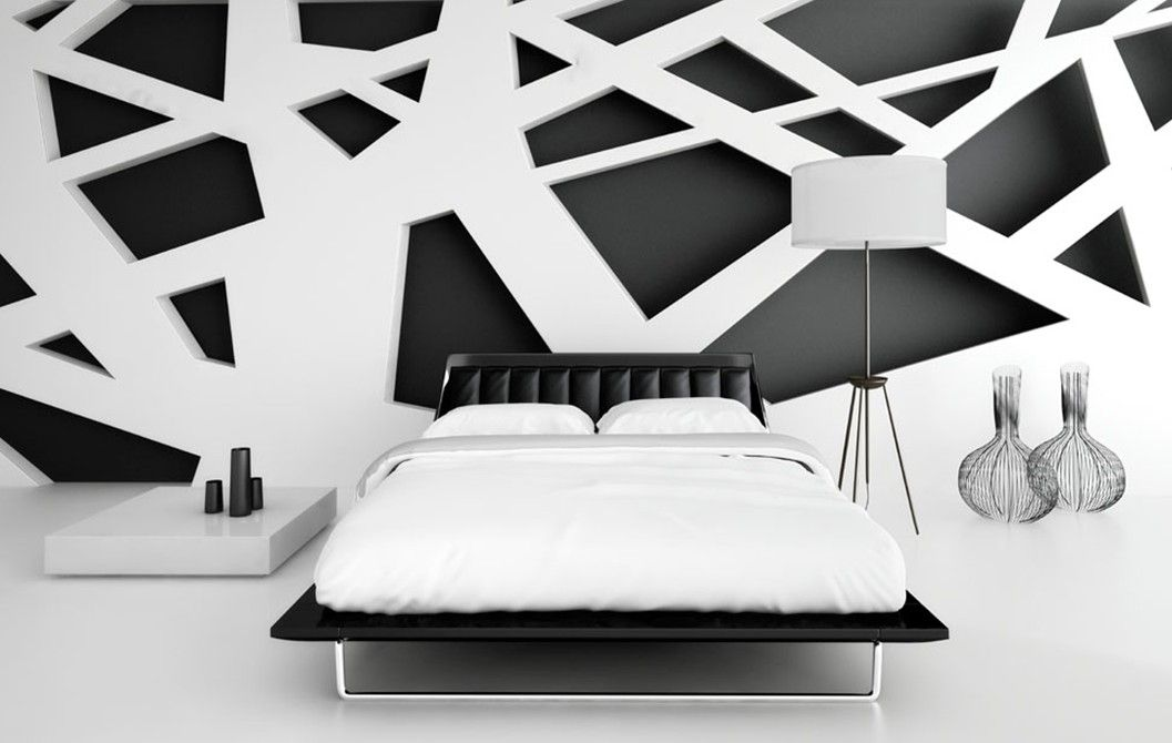 Black And White Interiors | Black And White Bedroom Interior Design |  Download 3D House