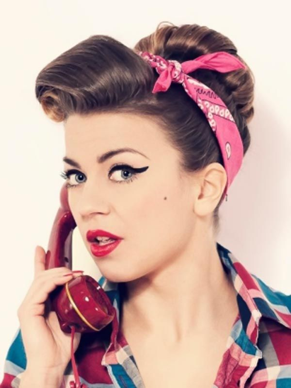 Pin Up Updo Hairstyles For Long Hair Hair Styles Pinterest