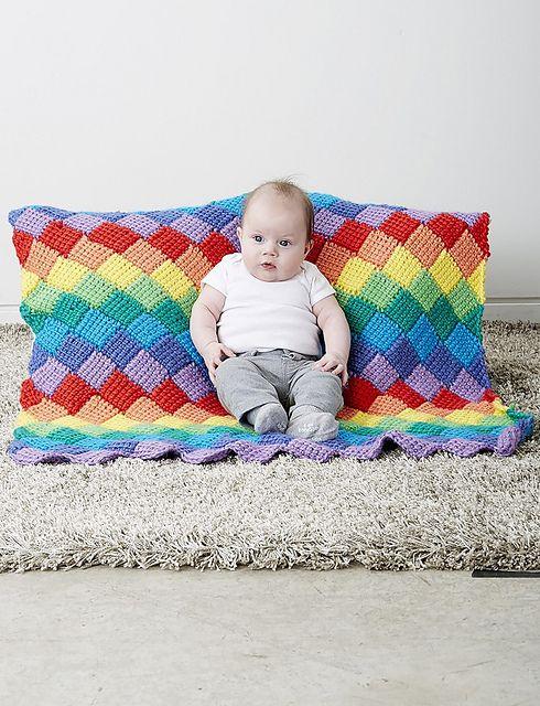 Ravelry: Tunisian Entrelac Baby Blanket pattern by Bernat Design ...