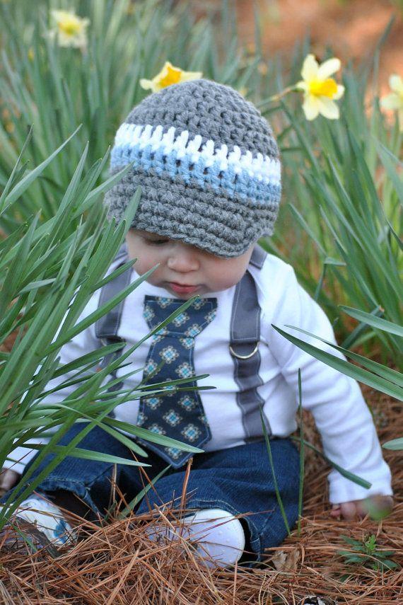 shopantsypants crochet hat+suspender onesie
