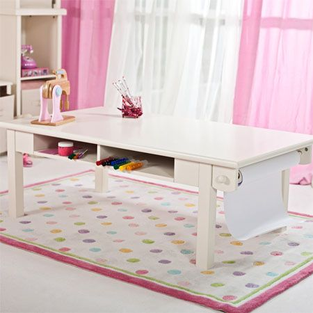 Marvelous Classic Playtime Antique White Activity Table With Paper Roll Gives Your  Kids Various Playful Alternatives