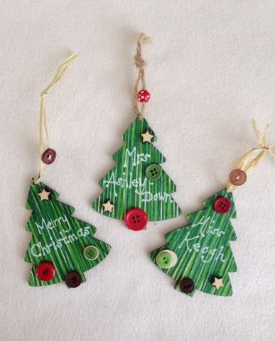 Set of 3 Shabby Chic Christmas Tree Decorations – All Out Of Ideas