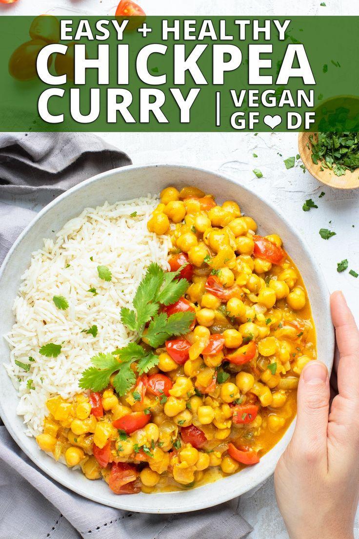 Chickpea Curry Recipe Vegan Recipe Curry Recipes Chickpea Curry Indian Food Recipes