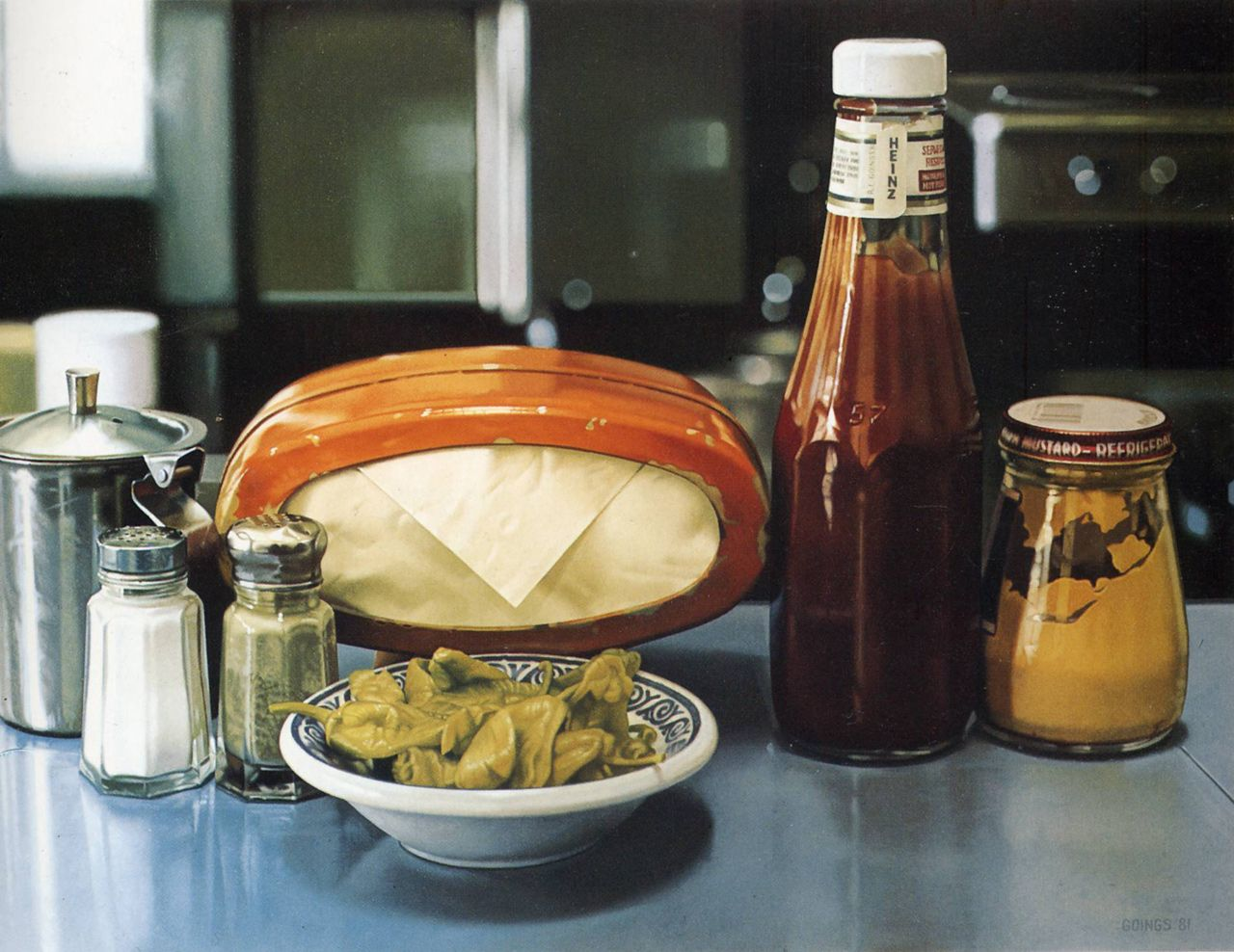 Still Life With Peppers, 1981; paint by Ralph Goings ...