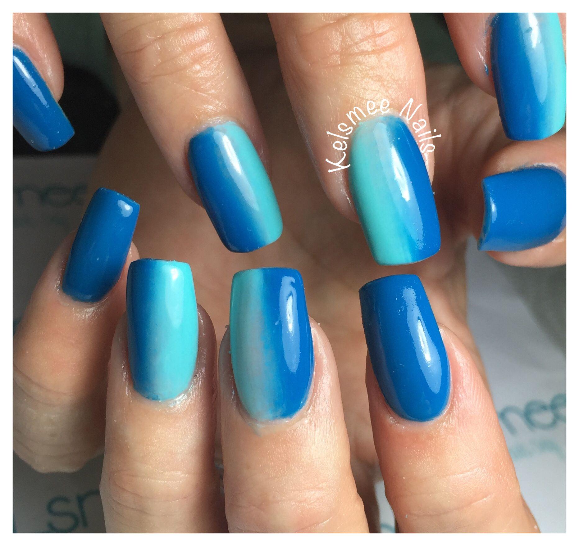 Blue nails, ombre | Nail Art Community Pins | Pinterest | Schuhe