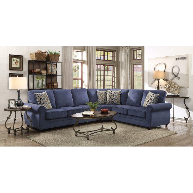 Astounding Coaster Furniture Kendrick Sectional Blue 501545 Uwap Interior Chair Design Uwaporg
