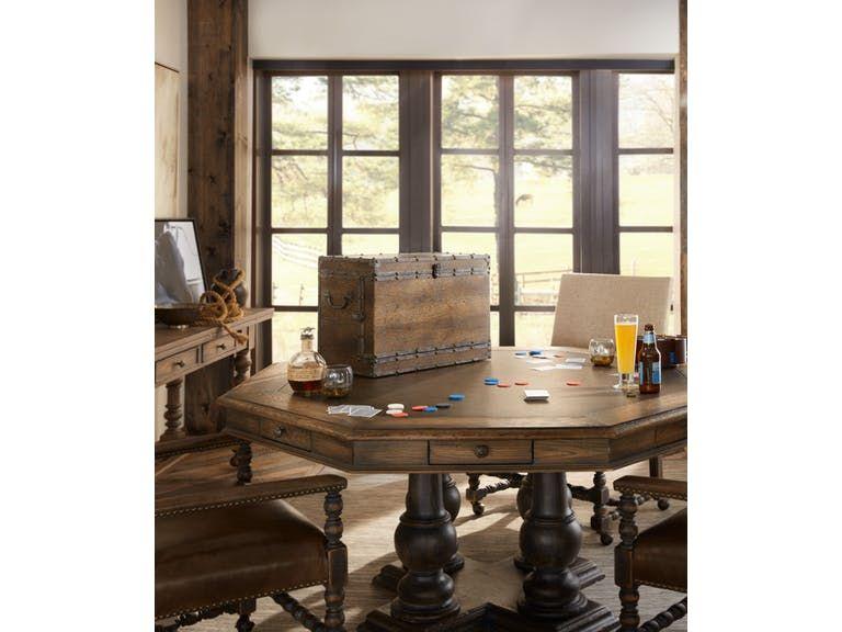 Hooker Furniture Dining Room Castle Hills 60In Game Table 5960 Inspiration Basement Dining Room Decorating Design